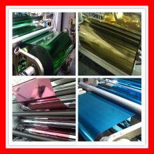 Película metalizada de color para laminación de papel