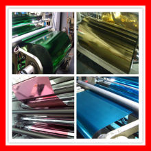 color metallized pet film for paper lamination