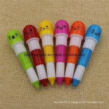 Stylo à bille rétractable en plastique fait sur commande promotionnel de stylo