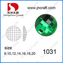Factory Direct Sell Round Brilliant Shape Flat Back Glass Cut Stones