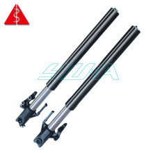 Sports motorcycle shock absorber with spring adjustable