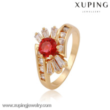 Xuping Jewelry Mother's Day Promotional Red Stone Fashion Wedding Rings