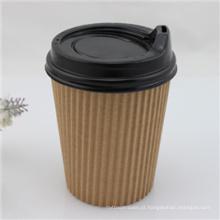 Copo de papel de café descartável com tampa / tampa