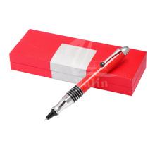 Pluma al por mayor del regalo del metal Pluma de encargo de los efectos de escritorio con la caja de regalo