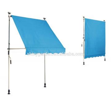 Toldo ajustable retráctil ajustable operado manualmente con altura ajustable, toldo de balcón