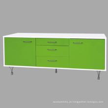 Alto brilho TV carrinho / armário de cores