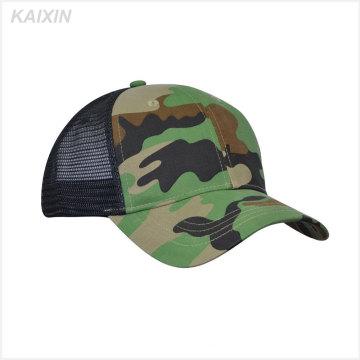 sombrero de camionero de alta calidad al por mayor gorra de camuflaje de 6 paneles de sombreros de malla baratos