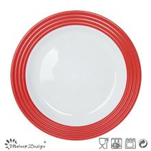 Plato de cena de cerámica de 27 cm con impresión de calcomanías