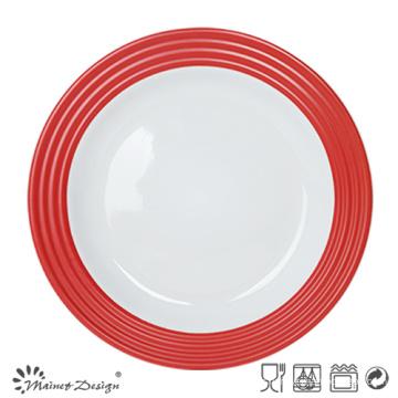 Assiette en céramique de 27cm avec l'impression de décalque