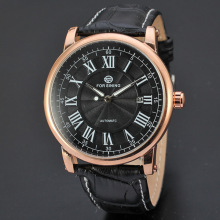 Forsining 3atm water resistant leather band watch
