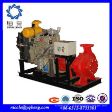 Fornecimento profissional bomba de combate a incêndio de motor diesel de alta qualidade horizontal com preço
