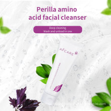 Private Labe Amino Acid Facial Cleanser Moisturizing Organic Ingredients Whitening Face Skin Care Cleanser