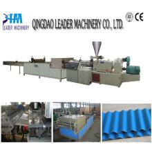 Línea de extrusión de láminas de plástico Línea de extrusión de láminas de techo corrugado de PVC / PP