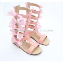 El bebé rosado bling calza la sandalia MOQ150 de la muchacha del niño de los zapatos encantadores de las muchachas infantiles