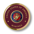 Unique Marine Corps Seal Brass Challenge Coin