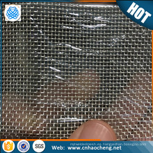 Tejido de malla de alambre conductor de malla 20 99,99% plata utilizado como electrodo en células solares