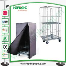Carrito de almacenamiento de carga logística malla metálica