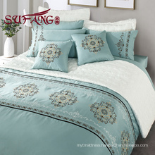 Luxury hotels bedding 30s/40s/60S embroidered long stapled cotton
