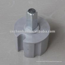 60mm Quadrate enchufe de extremo de plástico con cabeza de metal para el toldo estilo-toldo componente, toldo partes de toldo de carril, toldo mecanismos