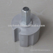 60mm Quadrate plug plástico com cabeça de metal para toldo estilo de toldo componente, toldo peças para toldo ferroviário, toldo mecanismos