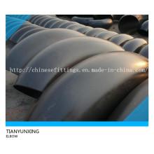 90 graus de raio longo de aço carbono cotovelos sem costura