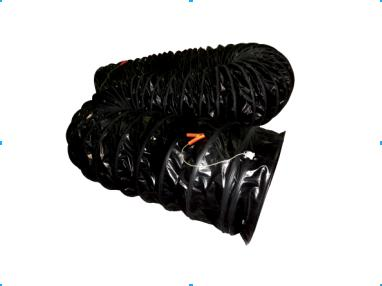 Portable ventilation fan duct hose