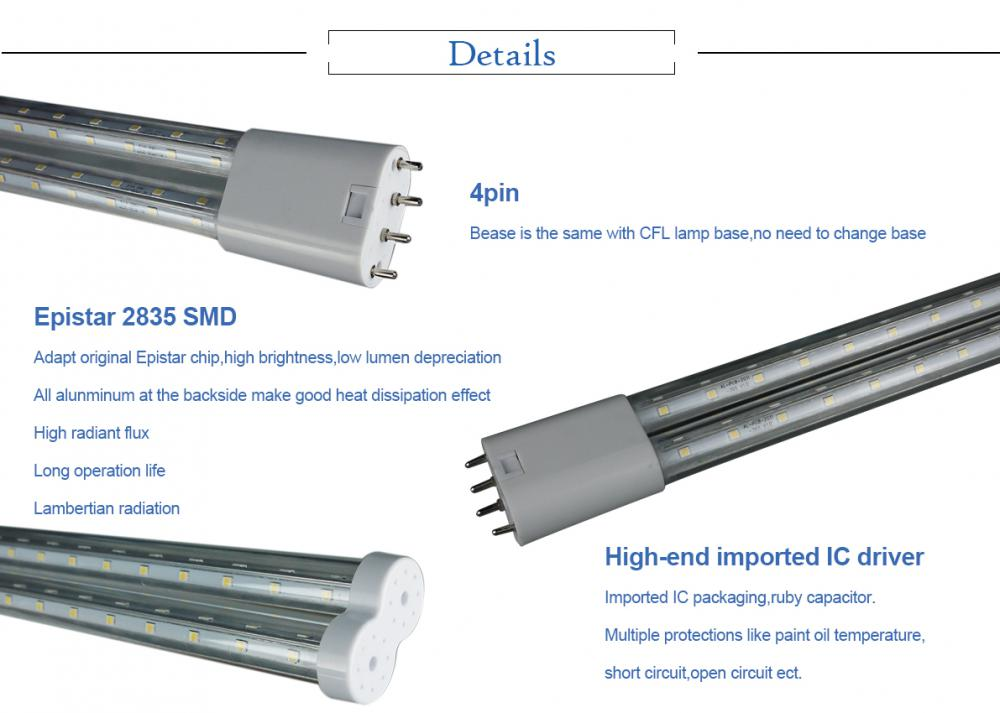 225mm 4PIN 2G11 Led Tube details