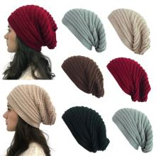 Autumn and winter wool knit outdoor warm hat