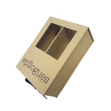 PVC Window Kustom Kraft Paper Packaging Gift Box