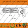 Barra de luces LED todoterreno de alta potencia de 50 ′ ′ 288W, barra de luces LED de accesorios de coche de doble fila con chip CREE 288W