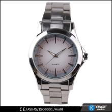 Einfacher Uhr Quarz auf Zifferblatt Uhr Edelstahl