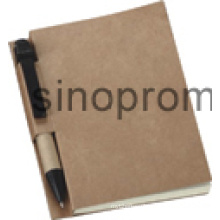Stationery Set Hard Cover Brown Notebook with Ball Pen