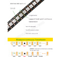 DC12V 12MM 144leds / m digital a todo color direccionable dirigible tira del pixel 8208 5050smd