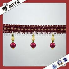 Perles de perles de perles de perles bordées de conception de mode pour rideau Coussin