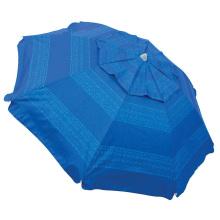 Blue outdoor big beach outdoor umbrella with anchoring