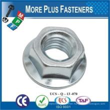 Made in Taiwan DIN 6923 Steel Class 8 Zinc Haxagonal Flange Nut