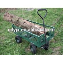 chariot de jardin robuste mesh panneaux latéraux avec 4 roues TC1841