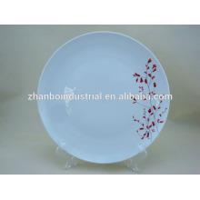 Plaques en porcelaine en céramique pour un banquet de restauration de mariage