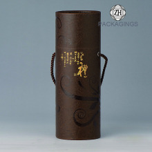 Round Custom Wine Bottle Tube With Handle