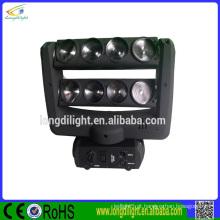 Novo produto 8 * 10w RGBW 4in1 Quad Color LED borboleta cabeça movendo luz
