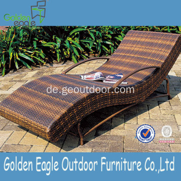 Günstige Rattan Patio Beach Chair mit Aluminiumrohr