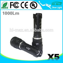 High intensity Diving Backup small rechargeable torch light price battery
