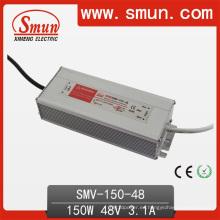Fuente de alimentación de la transferencia del conductor de 150W 48VDC 3.1A IP67 impermeable LED