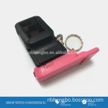 outdoor led solar light key ring whistle