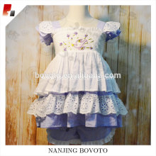 Summer ruffle dress bowknot boutique girl clothes