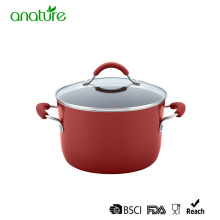 Cheap for Pressed Aluminum Cookware,Pressed Aluminum Pizza Pan Manufacturers and Suppliers in China 8 inch Red Non Stick Aluminum Casserole supply to Yugoslavia Exporter