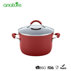 Professional Manufacturer for for Pressed Aluminum Frying Pan 8 inch Red Non Stick Aluminum Casserole supply to Czech Republic Exporter