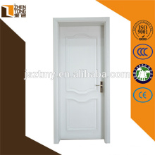 Professional design white painting solid wood door