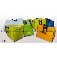 Woven Bag with Soft Loop Handle and Recyclable Bag