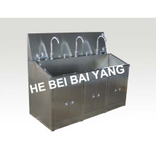 (C-51) Bassin d'inducteur en acier inoxydable dans la salle aseptique
